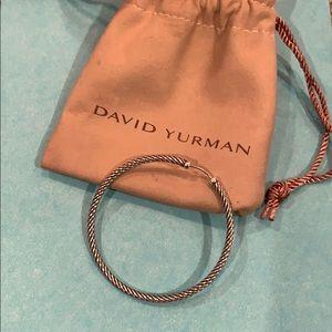 David Yurman X large Classic Cable hoop earring